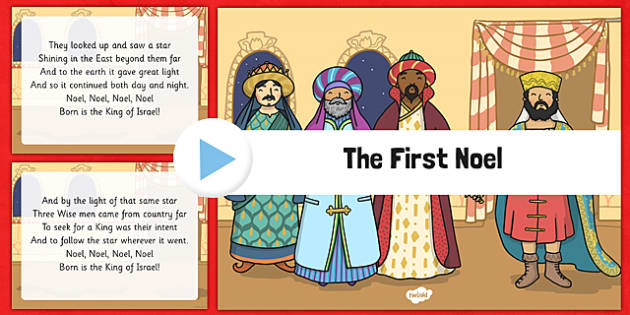 The First Noel Christmas Carol Lyrics PowerPoint - the first noel, christmas carol