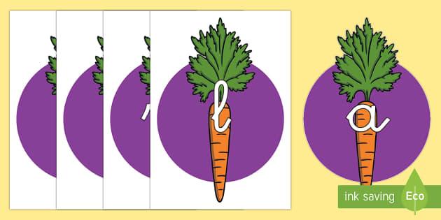 Tarjetas de fonemas: Zanahorias - lecto, leer, primeros sonidos, comida