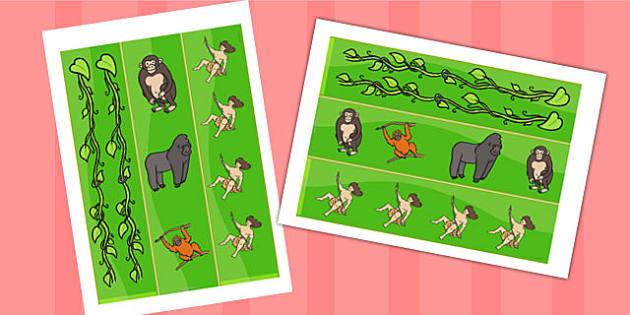Tarzan Display Borders - tarzan, tarzan themed, tarzan display borders, themed display borders, tarzan themed display borders, jungle themed borders