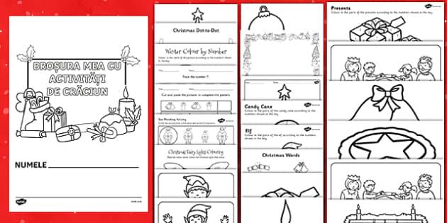 Broșura mea cu activități de Crăciun - craciun, materiale, română, romana, fise, pagini de colorat, activitati de craciun, fișe, Romania