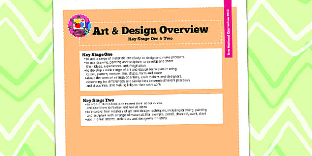 2014 Curriculum Art and Design Overview - new curriculum, plans