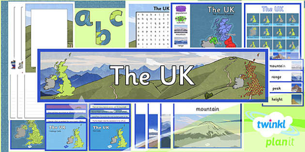 PlanIt - Geography Year 3 - The UK Additional Resources - planit, geography, year 3, uk, additional resources