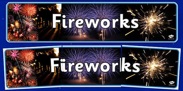 Fireworks Display Banner - fireworks, display banner, display, banner, bonfire night