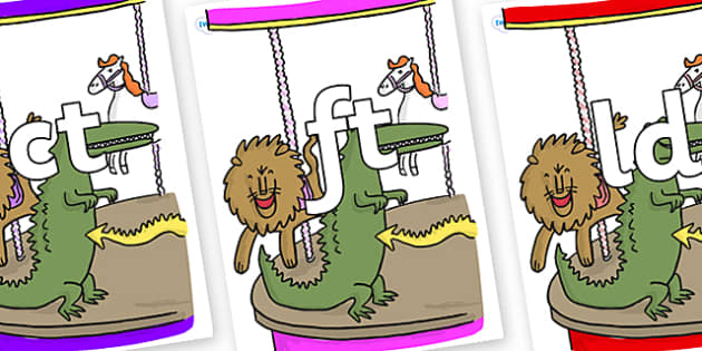 Final Letter Blends on Trick 3 to Support Teaching on The Enormous Crocodile - Final Letters, final letter, letter blend, letter blends, consonant, consonants, digraph, trigraph, literacy, alphabet, letters, foundation stage literacy