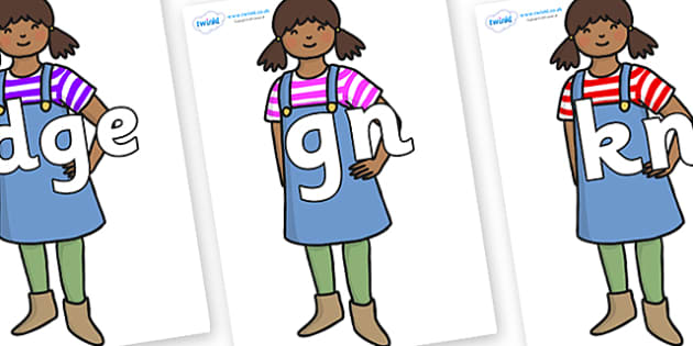 Silent Letters on Enormous Turnip Girl - Silent Letters, silent letter, letter blend, consonant, consonants, digraph, trigraph, A-Z letters, literacy, alphabet, letters, alternative sounds