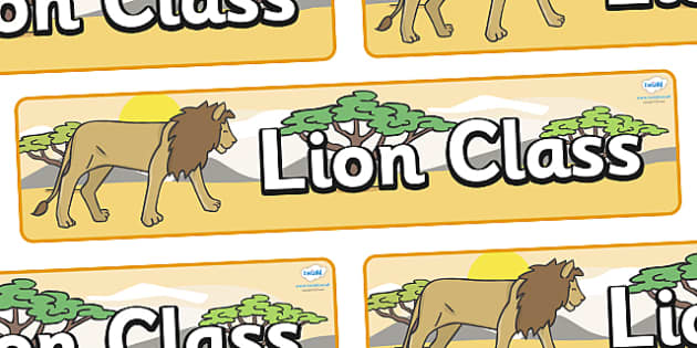 Lion Themed Classroom Display Banner - Themed banner, banner, display banner, Classroom labels, Area labels, Poster, Display, Areas