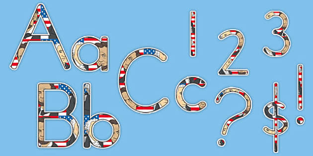 Presidents' Day Display Letters and Numbers Pack - usa, presidents day, celebration, federal, display, letters, numbers, pack