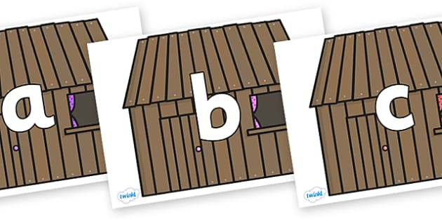 Phoneme Set on Wooden Houses - Phoneme set, phonemes, phoneme, Letters and Sounds, DfES, display, Phase 1, Phase 2, Phase 3, Phase 5, Foundation, Literacy