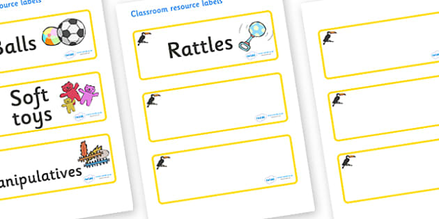 Toucan Themed Editable Additional Resource Labels - Themed Label template, Resource Label, Name Labels, Editable Labels, Drawer Labels, KS1 Labels, Foundation Labels, Foundation Stage Labels, Teaching Labels, Resource Labels, Tray Labels, Printable l