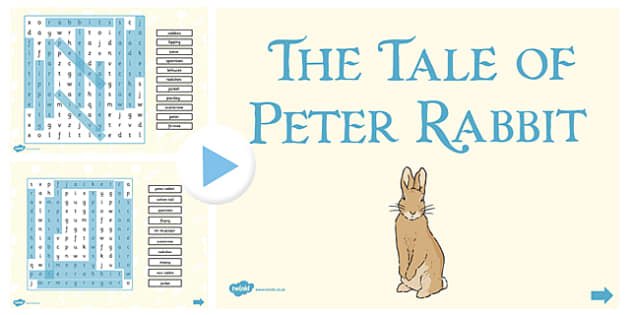 The Tale of Peter Rabbit Interactive Wordsearch - peter rabbit