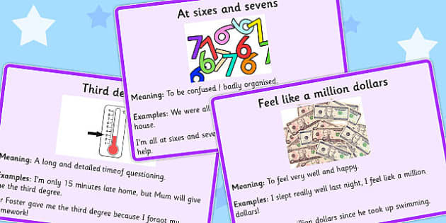 Number Idioms Meaning Cards - number, idioms, meaning, cards