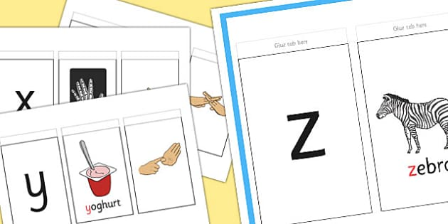 British Sign Language Alphabet Sign And Flip Activity Booklet