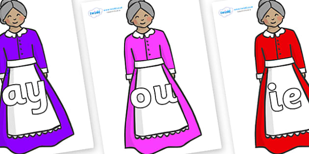 Phase 5 Phonemes on Old Mother Hubbard - Phonemes, phoneme, Phase 5, Phase five, Foundation, Literacy, Letters and Sounds, DfES, display