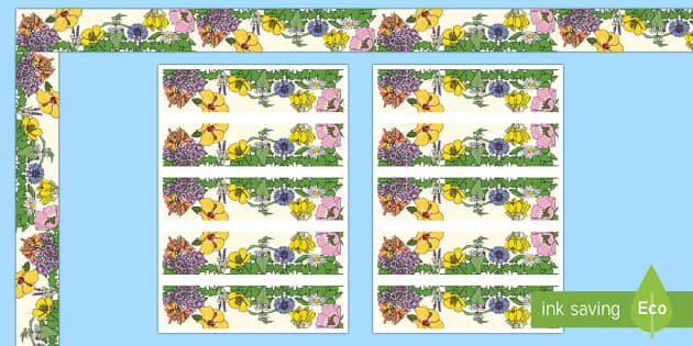 Floral Display Borders - Classroom, Display, Floral, flower, plants, petal,