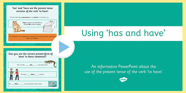 Has or Have? Presentation PowerPoint