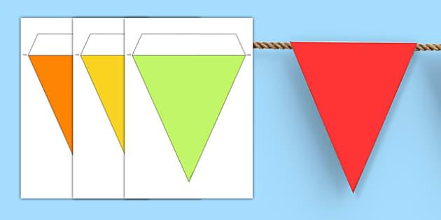 Multicoloured Editable Display Bunting - display, lessons, classroom, editable, personalise, personalised, colour, ks1, ks2, primary