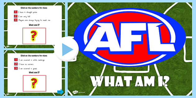 AFL Australian Football League What Am I PowerPoint - sports