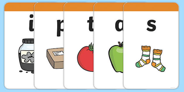 Large Phase 2 Mnemonic Word / Image Cards - Phonemes, Phase 2, Phase two, Mnemonic cards, DfES Letters and Sounds, Letters and sounds, Letter flashcards, Image and Word Cards