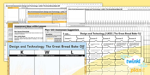 PlanIt - Design and Technology LKS2 - The Great Bread Bake Off Unit Assessment Pack - planit, assessment, pack