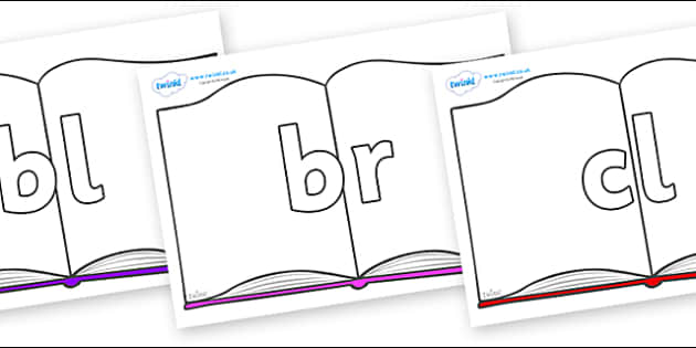 Initial Letter Blends on Books - Initial Letters, initial letter, letter blend, letter blends, consonant, consonants, digraph, trigraph, literacy, alphabet, letters, foundation stage literacy