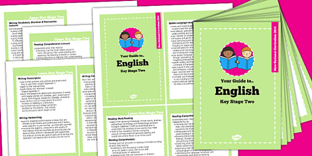 2014 Curriculum Cards KS2 English - new curriculum, planning