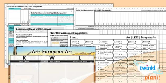 PlanIt - Art LKS2 - European Art Unit Assessment Pack - planit, art, lks2, european art, unit, assessment, pack