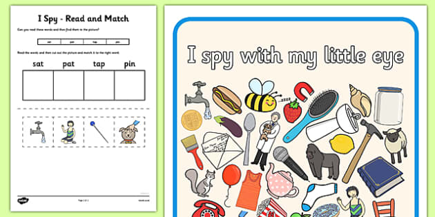 I Spy Read and Match Phase 2 Set 1 - I Spy, read and match, phase 2