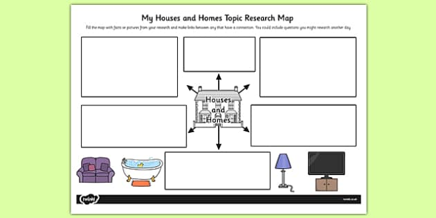 Houses and Homes Topic Research Map - houses, homes, research
