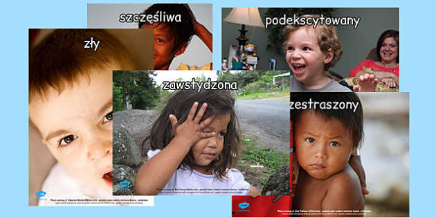 Plakaty Nasze uczucia po polsku - edukacja, dzieci , Polish