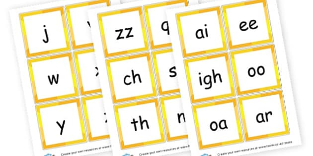 Phase 3 Phonemes Cards - Phase 3 Display Phonemes Primary Resources, Display, Letters, Word