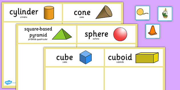 3D Shape Sorting Activity Portuguese Translation - portuguese, 3d shape, sorting, activity