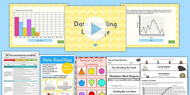 CfE Numeracy and Mathematics - First Level - Information Handling - Data and Analysis  Resource Pack