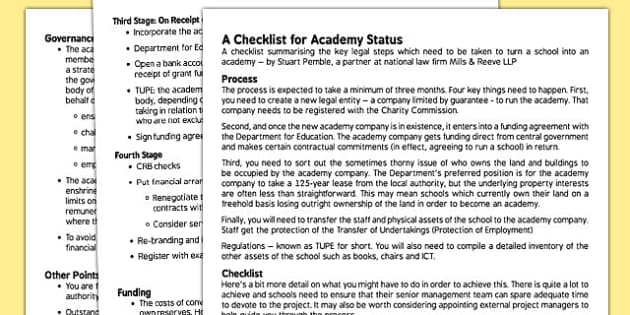 Academy Conversion Support for Governors - governors, academy