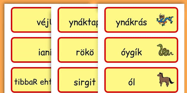 Chinese New Year Topic Word Cards - chinese new year, word cards - Hungarian