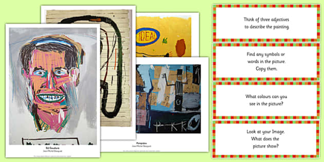 Jean Michel Basquiat Photopack and Prompt Questions - jean michel basquiat, photo pack, prompt, questions