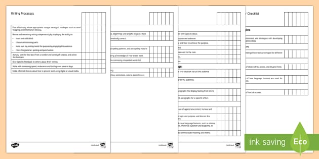 New Zealand Level 4 Writing Individual Tracker Checklist - Year 7, Year 8, Level 4, Writing, Individual Tracker, Assessment