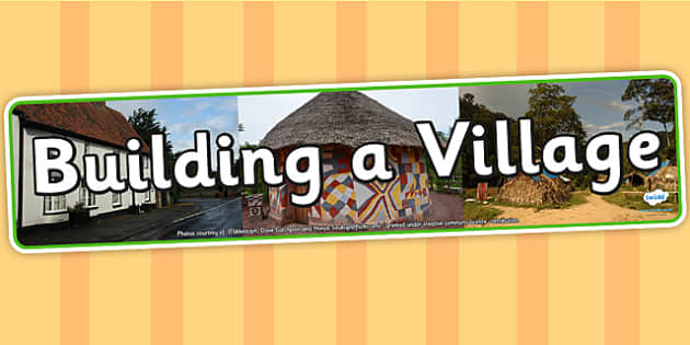 Building a Village IPC Photo Display Banner - building a village, display banner, IPC, building a village display banner, IPC display, village banner