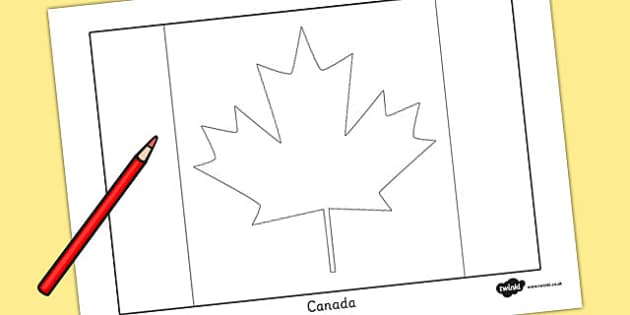 Canada Flag Colouring Sheet - geography, countries, colour