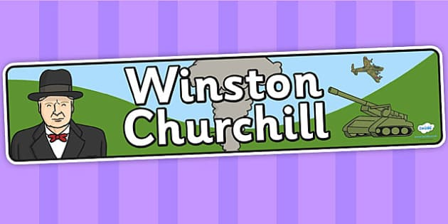 Winston Churchill Display Banner - winston churchill, display, banner, display banner, display header, themed banner, classroom banner, banner display