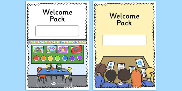 Editable Welcome Pack Covers (Portrait) - Welcome Pack, editable, cover, back to school, welcome pack, welcome, starting school, all about me, about me, starting nursery, starting KS1