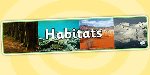 Habitats Photo Display Banner - habitats, photo display banner, photo banner, display banner, banner,  banner for display, display photo, display, photos