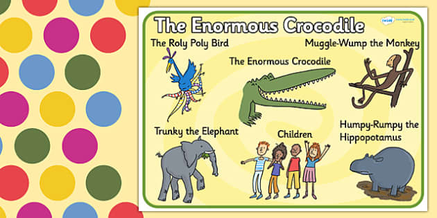 Character Word Mat to Support Teaching on The Enormous Crocodile - the enormous crocodile, the enormous crocodile word mat, word mat, roald dahl keywords