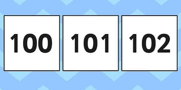 100-200 Square Number Cards - 100-200, square, number cards, cards