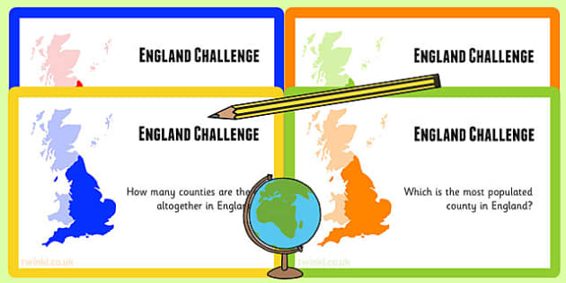 England Challenge Cards - united kingdom, geography, card games