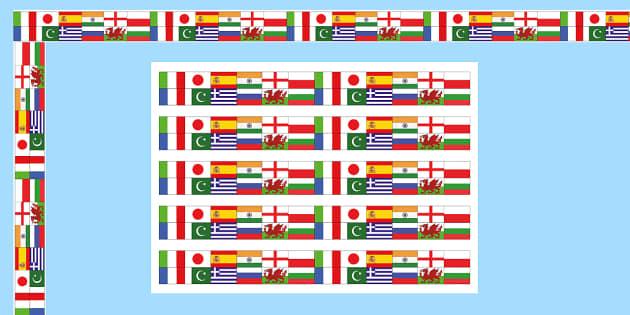 Modern Language Classroom Displays : Modern foreign languages display borders