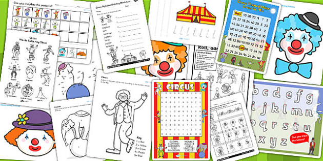 Circus Activity Pack - activities, games, places, days out
