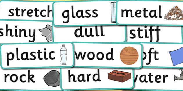 Year 1 Everyday Materials Scientific Vocabulary Cards - science