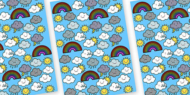 Weather Themed A4 Sheets-weather, weather themed, A4, A4 themed sheets, themed sheets, weather themed, weather display, types of weather