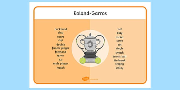 Roland-Garros Word Mat - roland-garros, word mat, word, mat, stadium, french opens, french, france