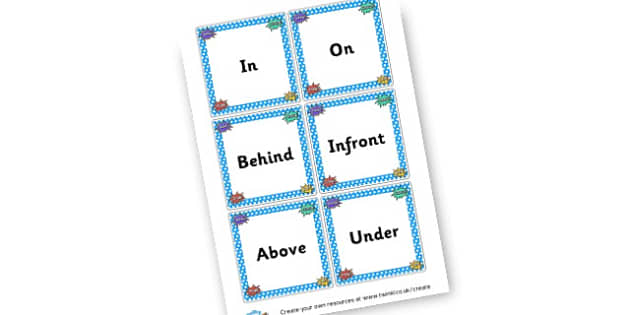 Prepositions on Superhero Cards - Speech Language Therapy Prepositions Primary Resources - SEN